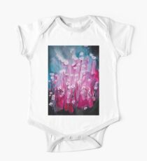 Pink Garden Painting One Piece - Short Sleeve