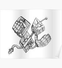 Retro Killer Robot Poster