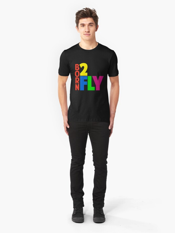Alternate view of Born 2 Fly - NEON Slim Fit T-Shirt