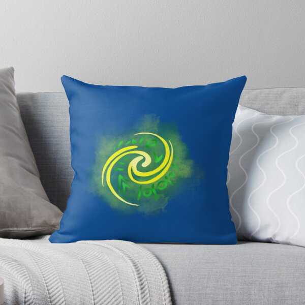 Watercolor Heart of Te Fiti Throw Pillow