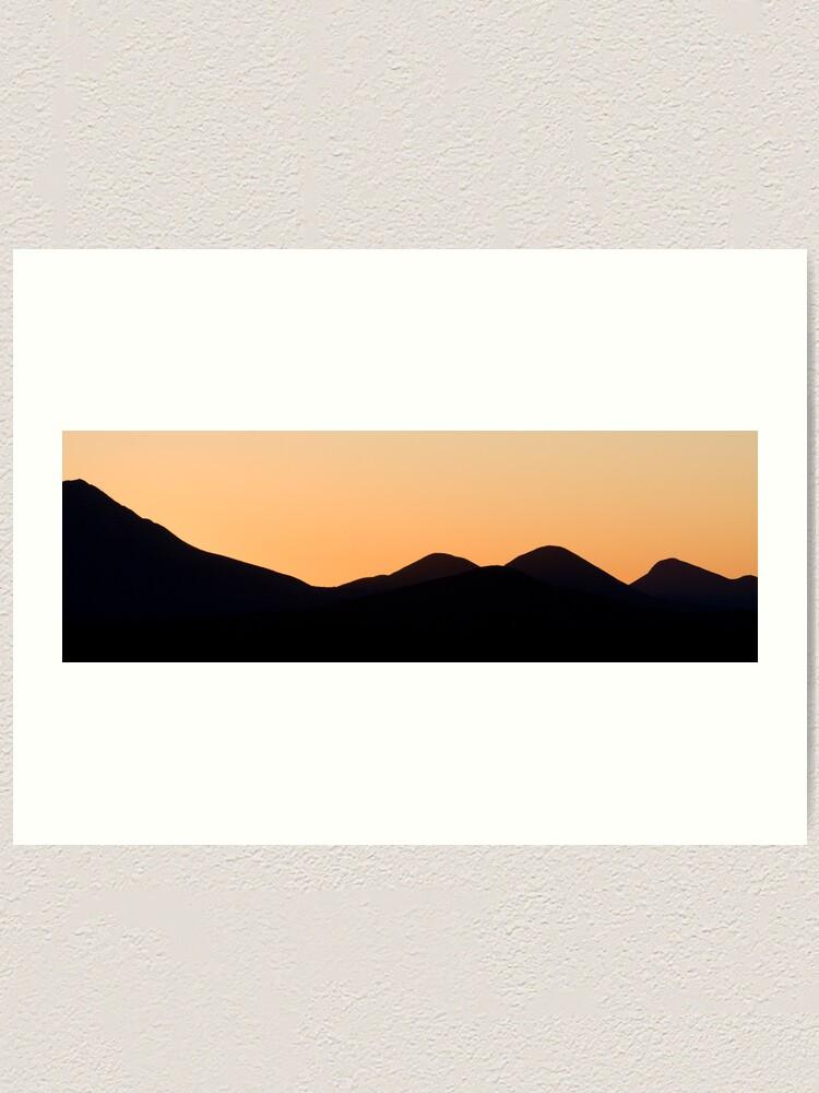 Alternate view of Stirling Range sunset Art Print