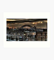 Harbour Bridge from Victoria Road 1 Art Print