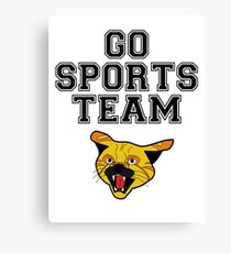 GO SPORTS TEAM WILDCATS Canvas Print