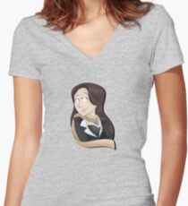 Mia Fey Women's Fitted V-Neck T-Shirt