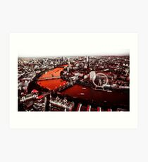 Bloody London Art Print