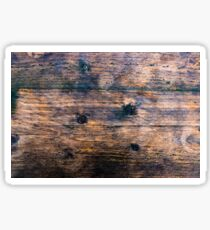 Abstract brown wood texture vintage background Sticker