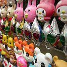 Harajuku masks by BigFatRobot