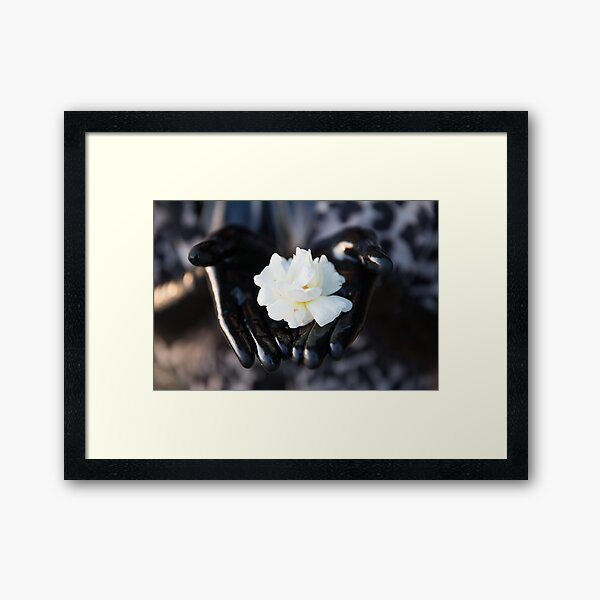 Project L: Shiny and a flower Framed Art Print