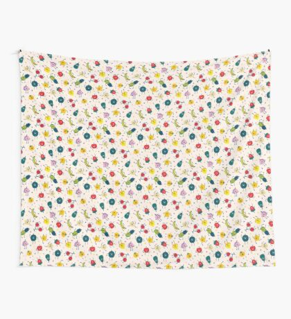 Happy Fruits Wall Tapestry