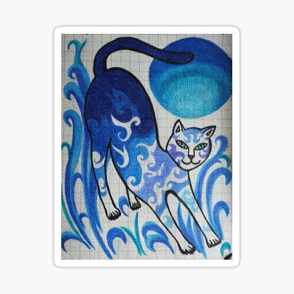 China Plate Cat Sticker