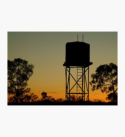 Outback Water Tank,N.T. Photographic Print