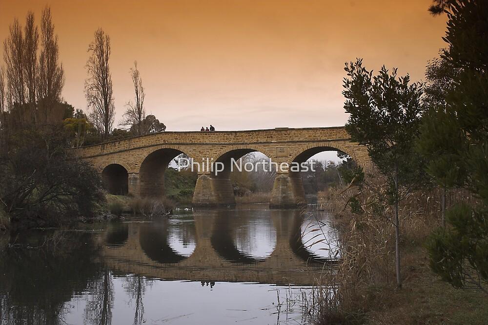 Richmond bridge in winter. by Philip Northeast