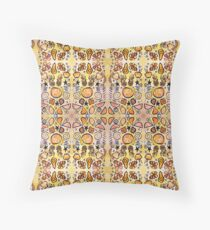 Fruit Out the Wazoot: Psychedelic Kaleidoscope Throw Pillow