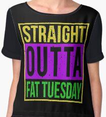 Straight Outta Tuesday - Mardi Gras Chiffon Top