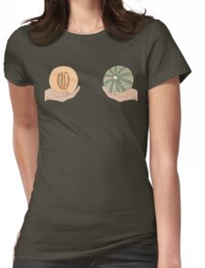 Melon boobs Womens Fitted T-Shirt