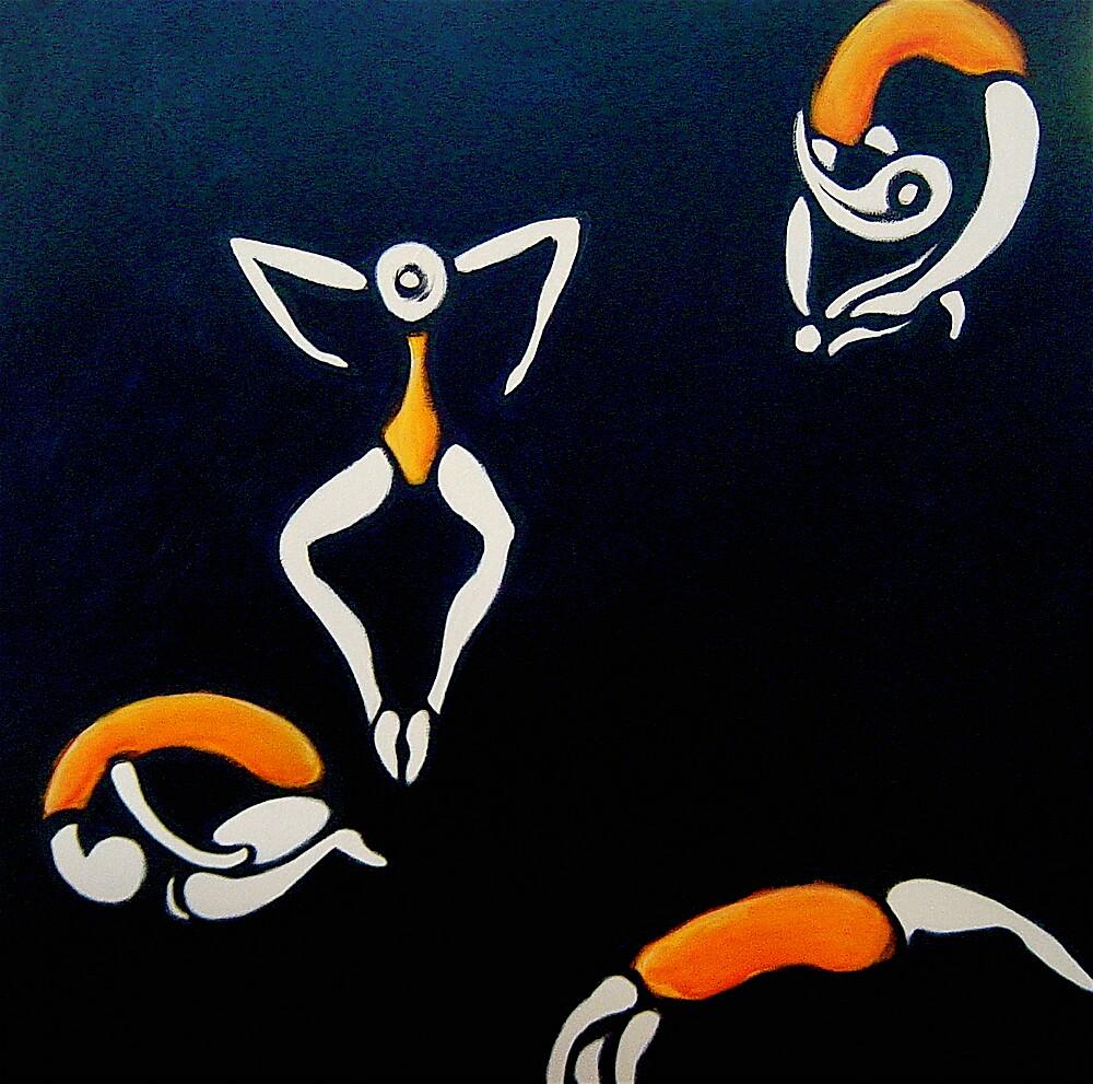 Acrobats by Eva Fritz