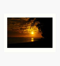 Sunset on Raro Art Print