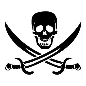 Skull and Cross-swords by Gheri
