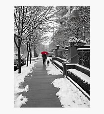 The Red Umbrella Photographic Print