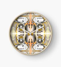 Black & Orange Diamond Dogs Clock
