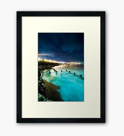 Coogee Mist Blue Framed Print