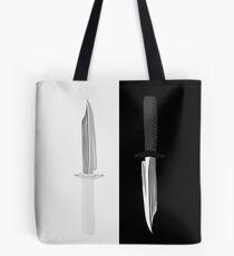Double Dark + White Knives Illustration Tote Bag