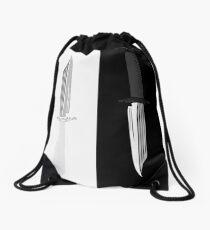 Double Dark + White Knives Illustration Drawstring Bag