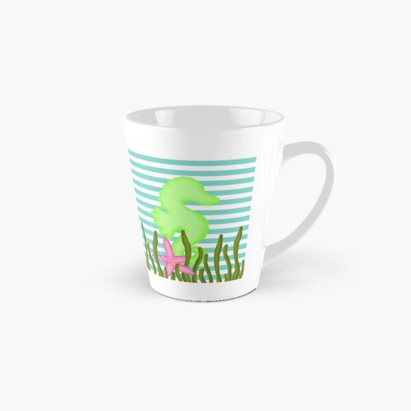 Ocean Seahorse Blue Green Tall Mug