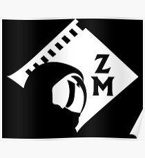 Zebra Monkeys Logo Poster