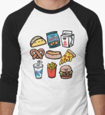 Junk-Food-Typen Baseballshirt für Männer