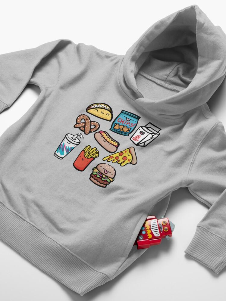 Alternate view of Junk Food Dudes Toddler Pullover Hoodie