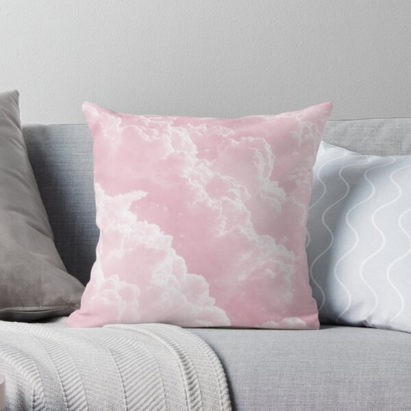 Pink Clouds Throw Pillow