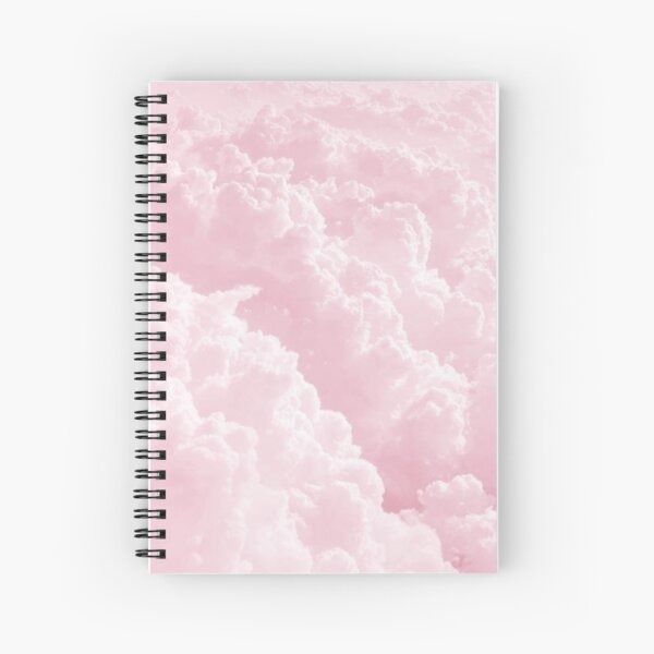 Nubes rosadas Cuaderno de espiral