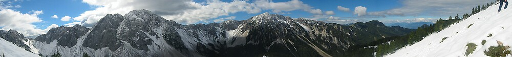 large panorama of the alps by venkman