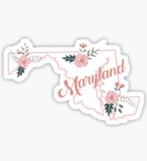 Maryland Floral State Sticker