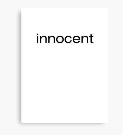 innocent Canvas Print