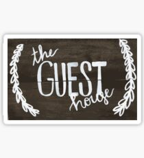 The Guest House (college house sign) Sticker
