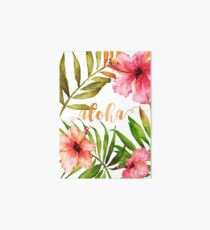 Hawaiian Tropical Floral Aloha Watercolor Art Board