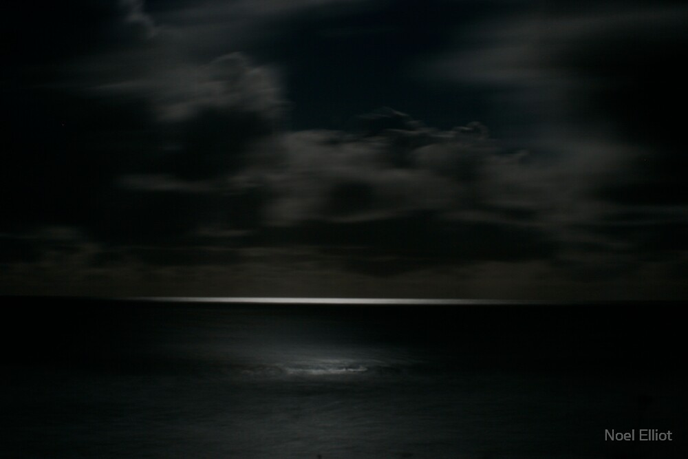 Scudding Clouds - Moonlit Sea by Noel Elliot