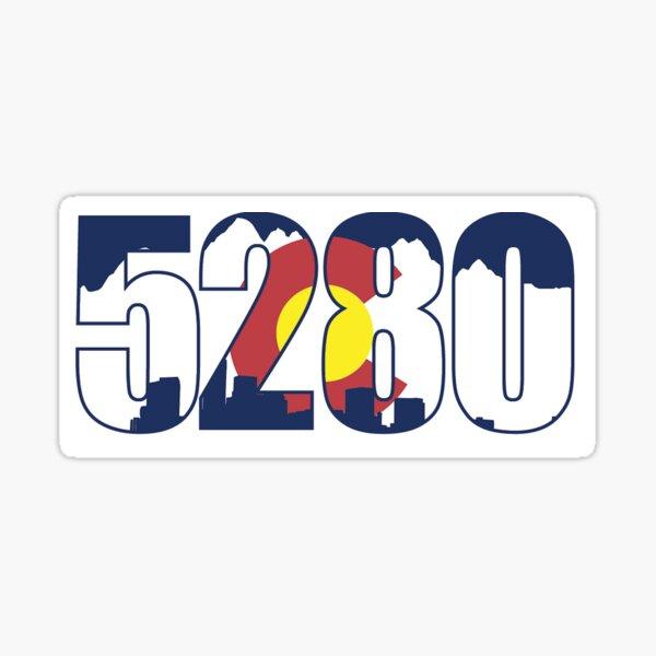 Colorado Flag 5280 Sticker