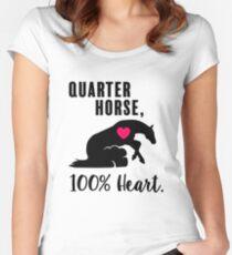 Quarter Horse, 100% Heart! - Reiner Edition Women's Fitted Scoop T-Shirt