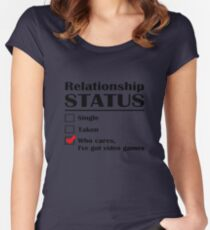 Relationship Status Video Games Women's Fitted Scoop T-Shirt