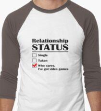 Relationship Status Video Games Men's Baseball ¾ T-Shirt
