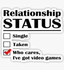 Relationship Status Video Games Sticker