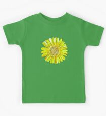 Bright and big yellow flower Kids Clothes