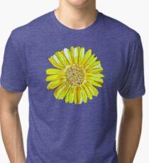 Bright and big yellow flower Tri-blend T-Shirt