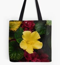 Water on the Hibiscus  Tote Bag