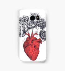 Heart with peonies Samsung Galaxy Case/Skin