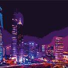 Coloured City Skyline Pt II by xaidex