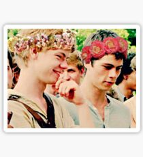 Newt and Thomas with Flowercrowns Sticker